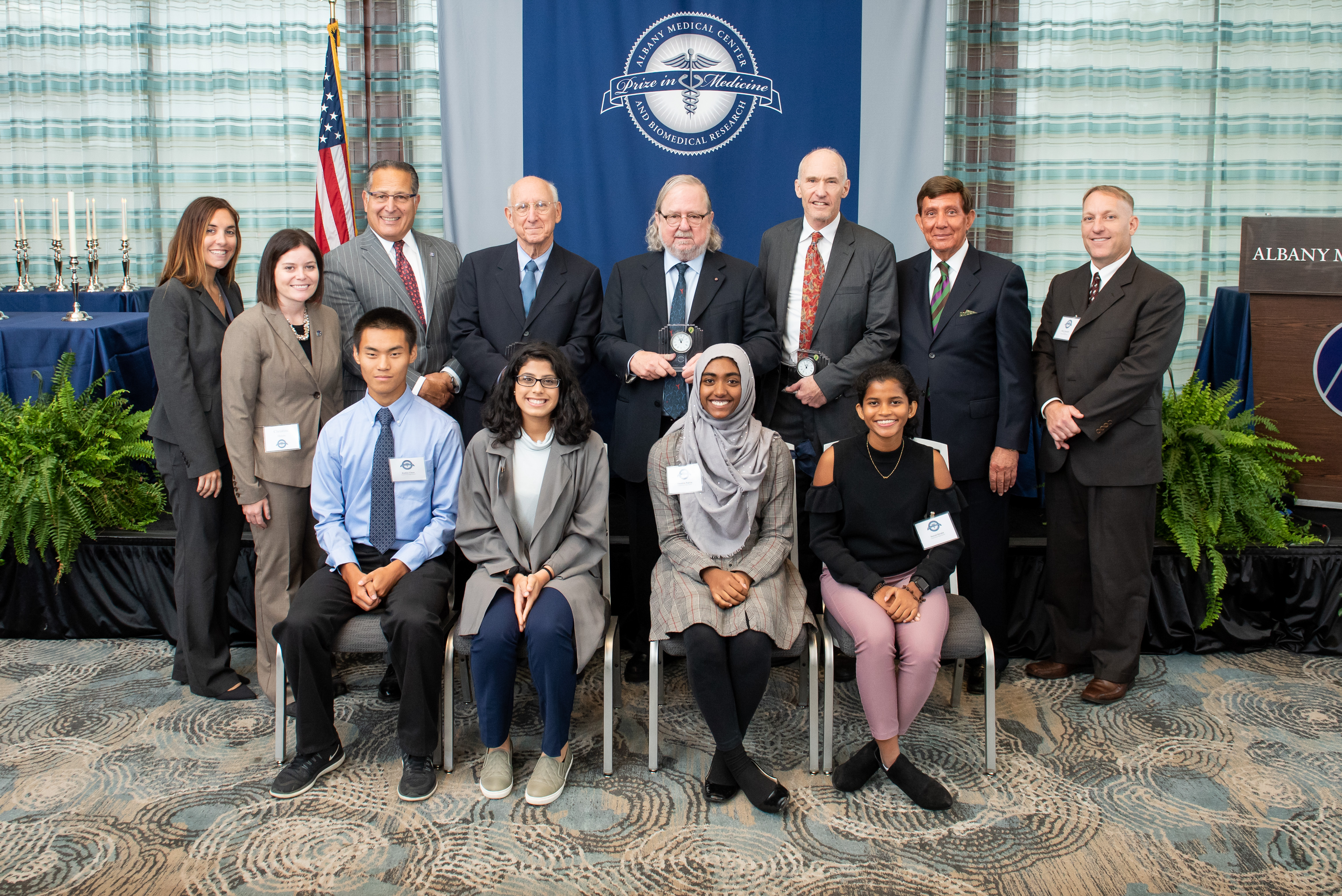 Group photo from the Albany Med Prize Ceremony