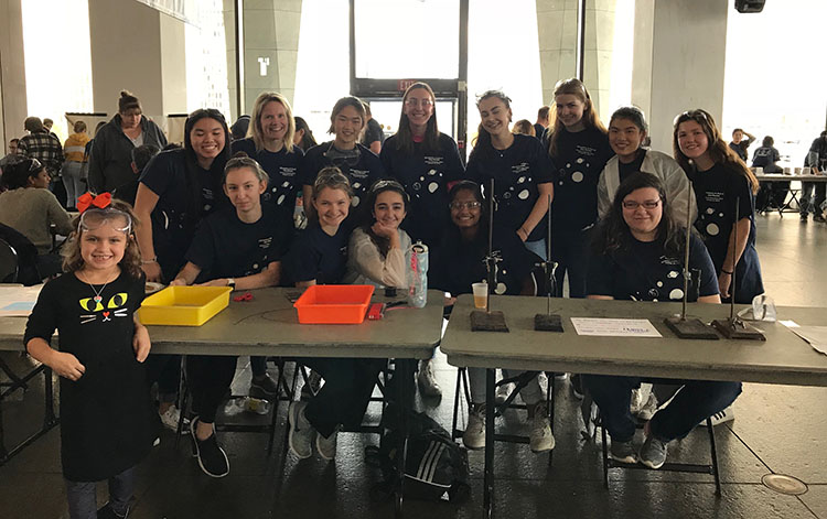 Chemistry Club students pose for a photo at the NYS Museum Chemistry Day