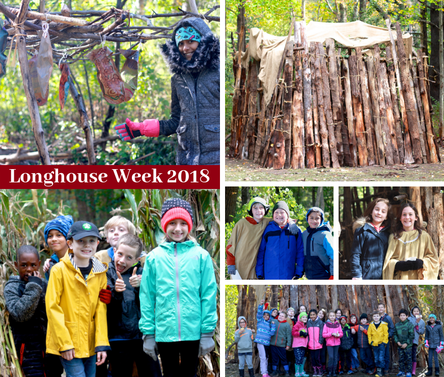 Collage of photos from LES's 2018 Longhouse Week