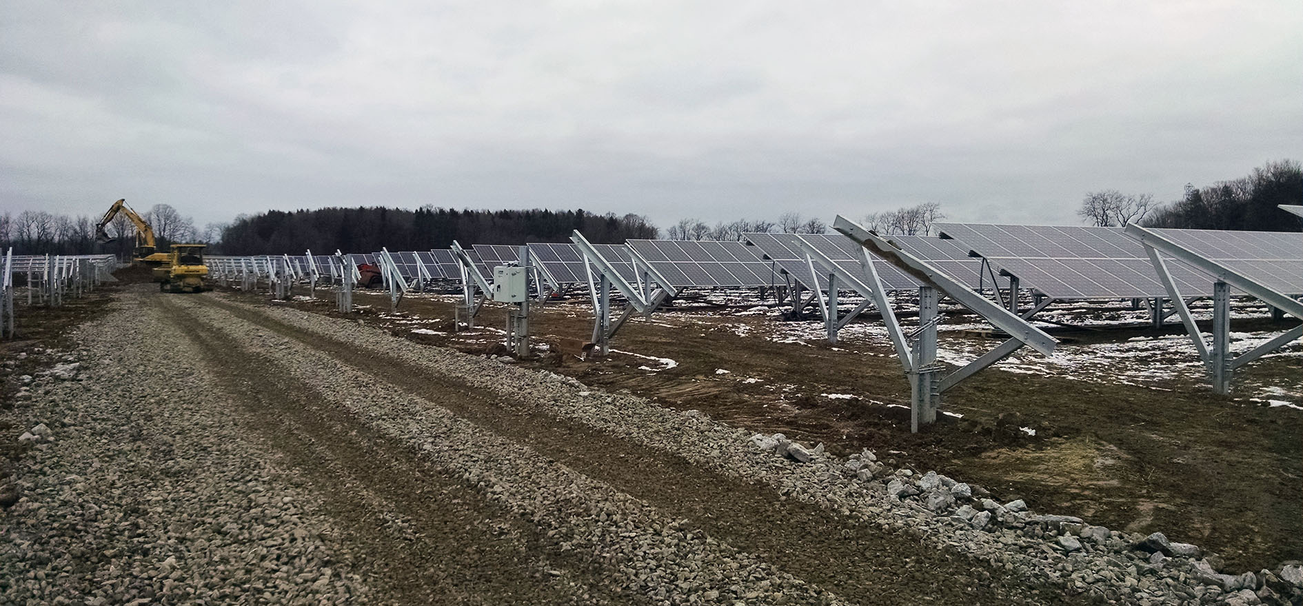 Photo of GCSD's solar farm panels