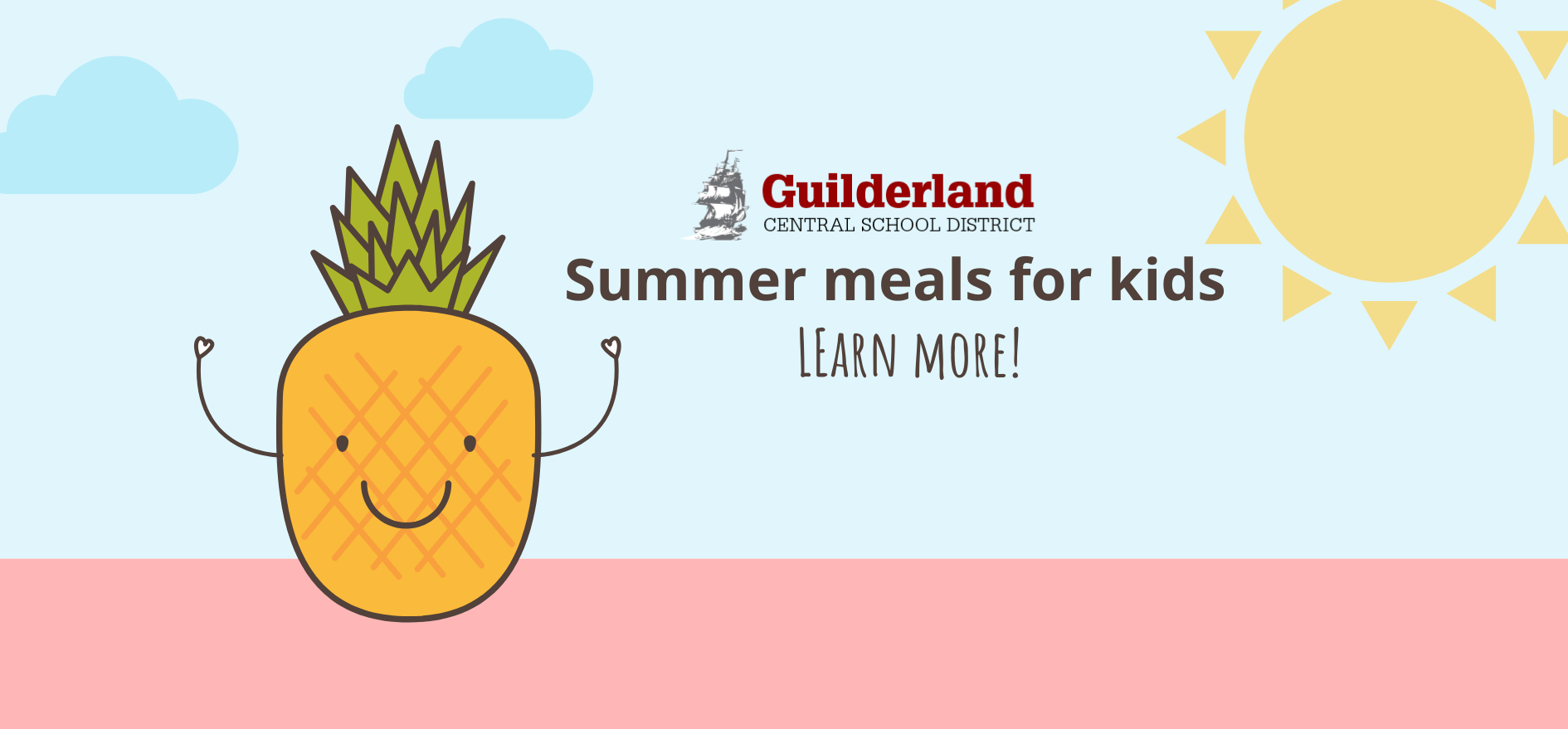 GCSD Summer meals for kids. Learn More!