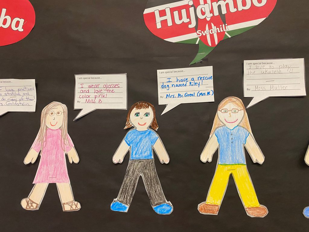 three teacher self portrait drawings