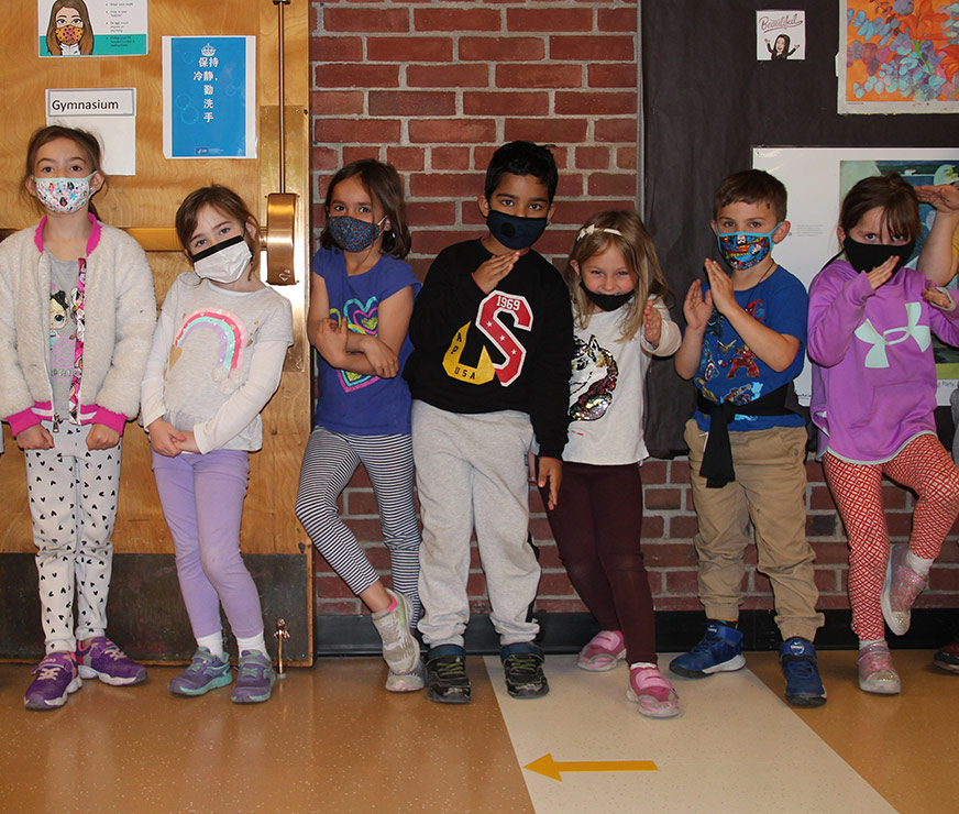 Westmere Elementary group of students in silly poses