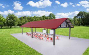 Rendering of outdoor classroom space.